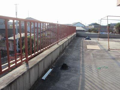 鉄柵の塗り替え