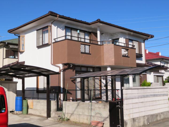一般住宅の屋根・外壁塗装工事、ベランダ防水工事