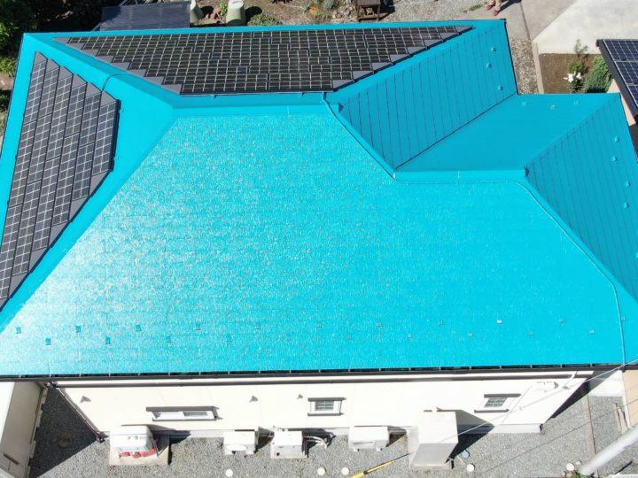 一般住宅の屋根塗装及びコロニアル1枚交換工事