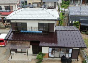 一般住宅の1階屋根及び付帯部塗装工事